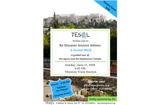 Register for the TESOL Greece Summer Event 2018