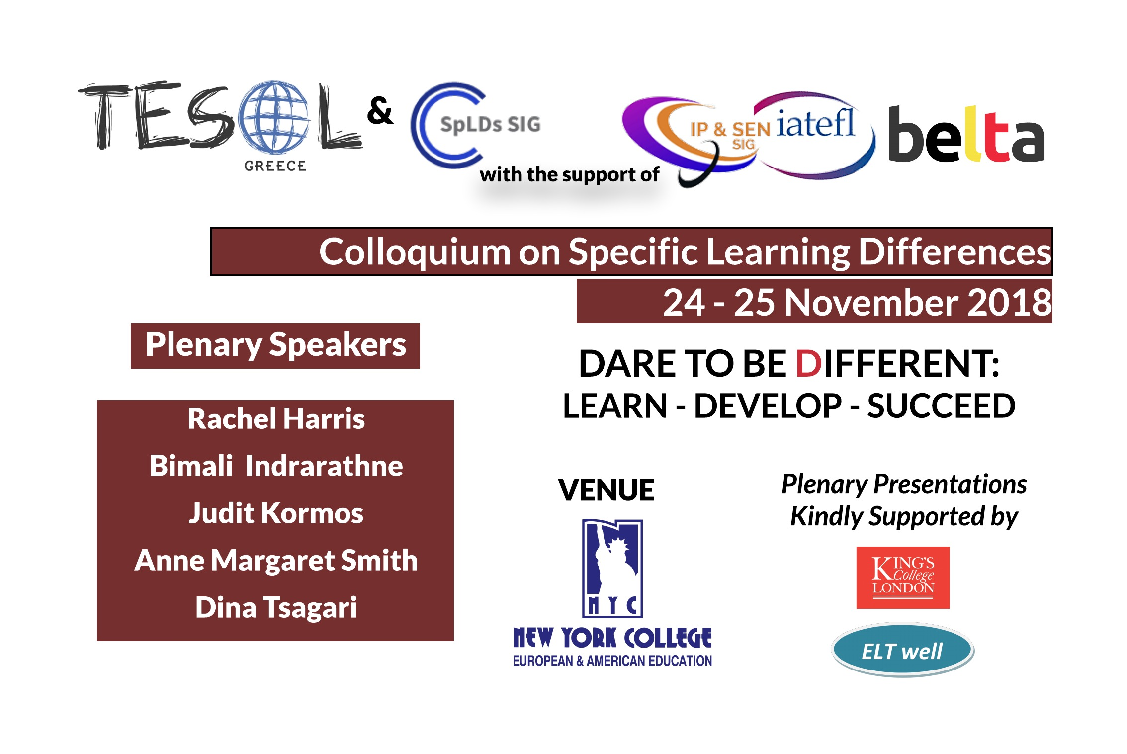 Deadline Extended – Call for Participation   TESOL Greece Specific Learning Differences Colloquium