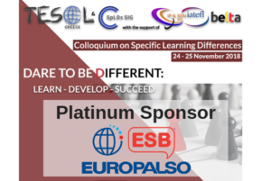 EUROPALSO is the Platinum Sponsor of the Colloquium on Learning Differences