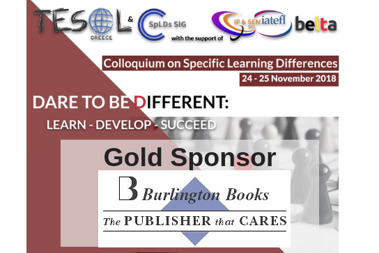 BURLINGTON BOOKS is the Gold Sponsor of the Colloquium on Learning Differences