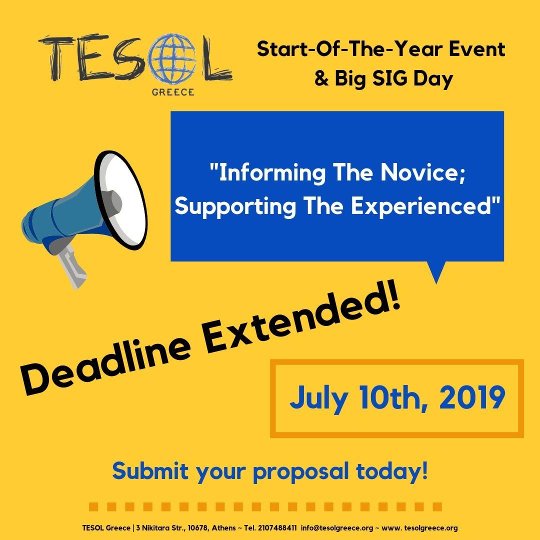 Deadline Extended!