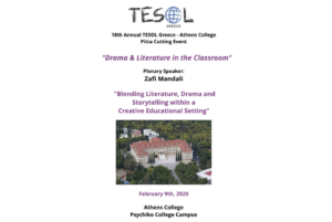 TESOL Greece – Athens College Pitta Cutting Event  2020