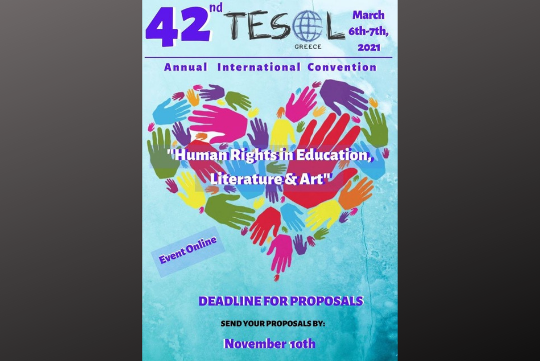 Nov. 10th Deadline Extended! 42nd TESOL Greece Convention.