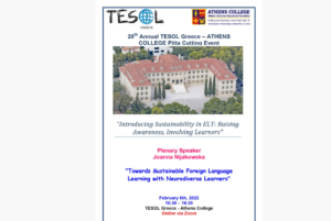 Read more about the article Call for Participation: 20th TESOL Greece-Athens College Pitta Cutting Online Event